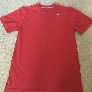 Red Nike Workout Shirt